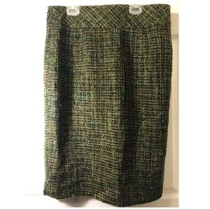 Adrienne Vittadini Green Knit Skirt